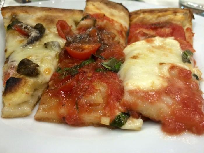 Al Convento, Tris di pizza