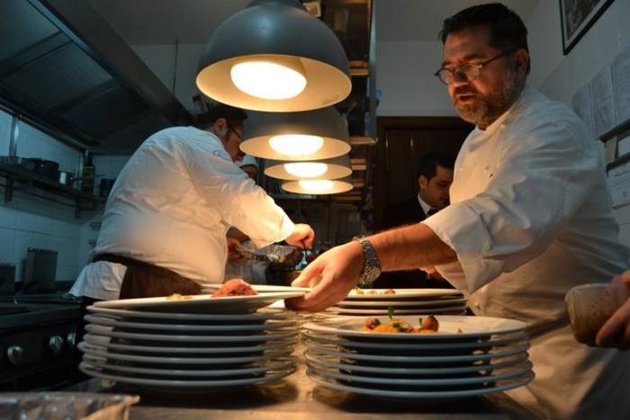 Angelo Sabatelli e Vitantonio lombardo in cucina