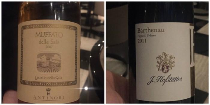 Armani, i vini