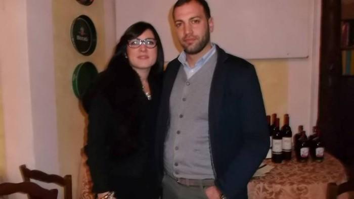 Carlo Polito con la moglie