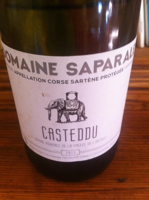 Casteddu Blanc del Domaine Saparale
