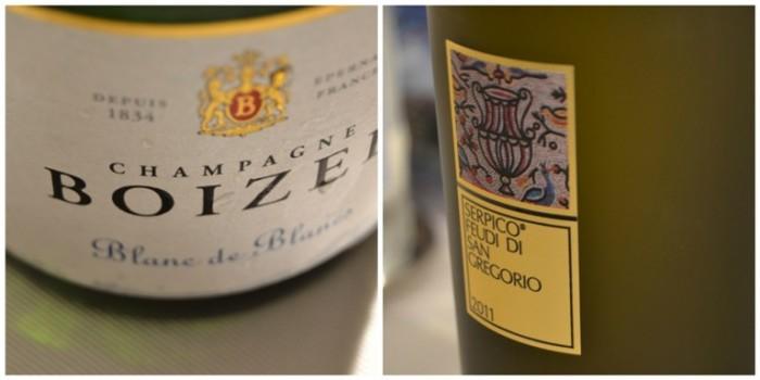 Da Monopoli a Caggiano, i vini: Champagne Blanc de Blancs Boizel e Serpico 2011 di Feudi di San Gregorio