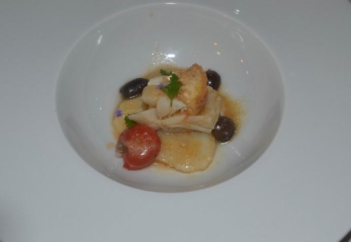 Il Trifoglio, la trippa di baccalà, patate e porro