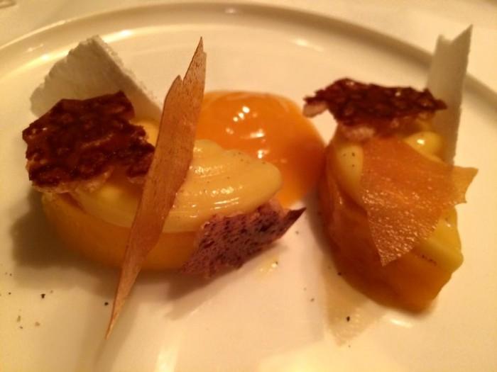 Ledoyen, dessert al mango