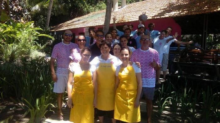 Maria Rina col suo team in Brasile