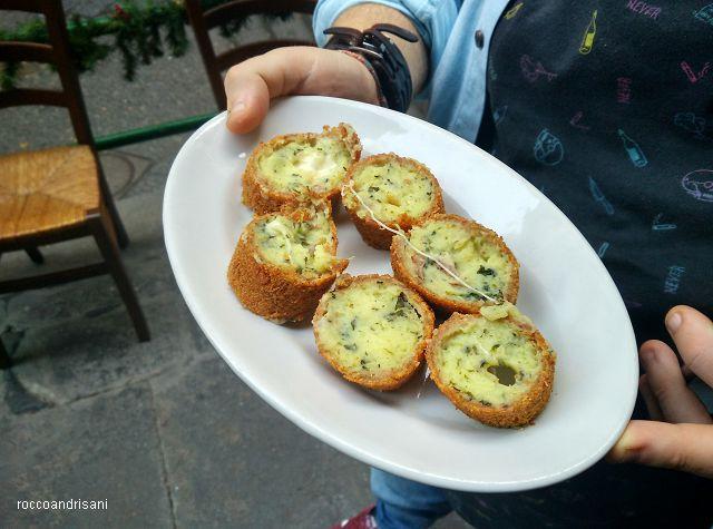 Osteria La Chitarra. Crocchettone salsiccia e friarielli