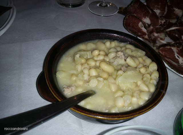 Osteria La Chitarra. Zuppa di fagioli e cotiche