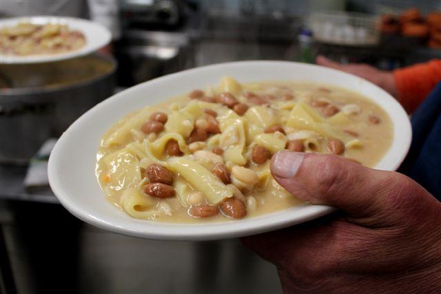 Osteria del Baccalà a Frosinone,  pasta con fagioli e Baccalà