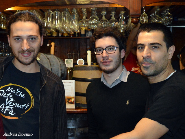 Ottavonano. Da sinistra Alfonso Strianese, Andrea Docimo e Gianluca Polini.