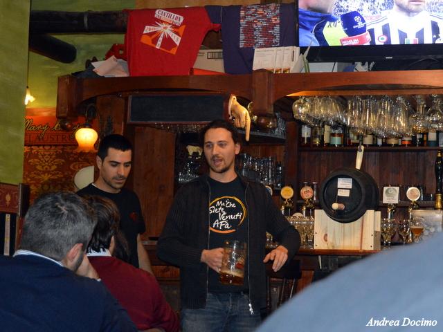Ottavonano. Gianluca Polini e Alfonso Strianese ad inizio serata.