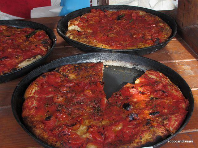 Panificio Santa Lucia. Pizza lampiata