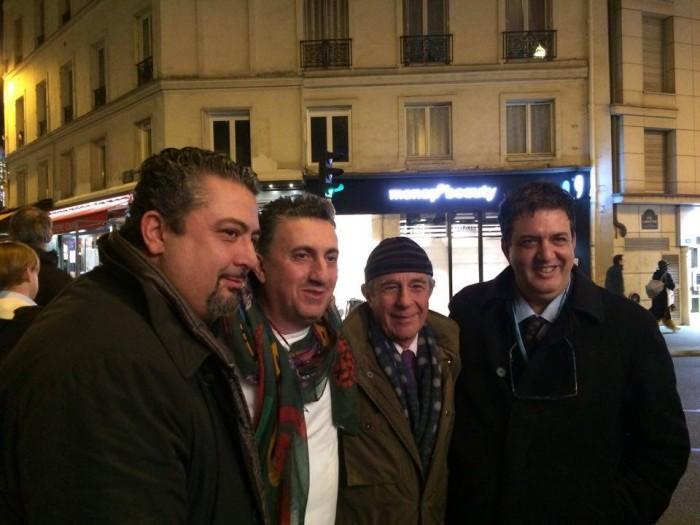 Pasquale Torrente con Giuseppe Di Martino e Luciano Pignataro a Parigi