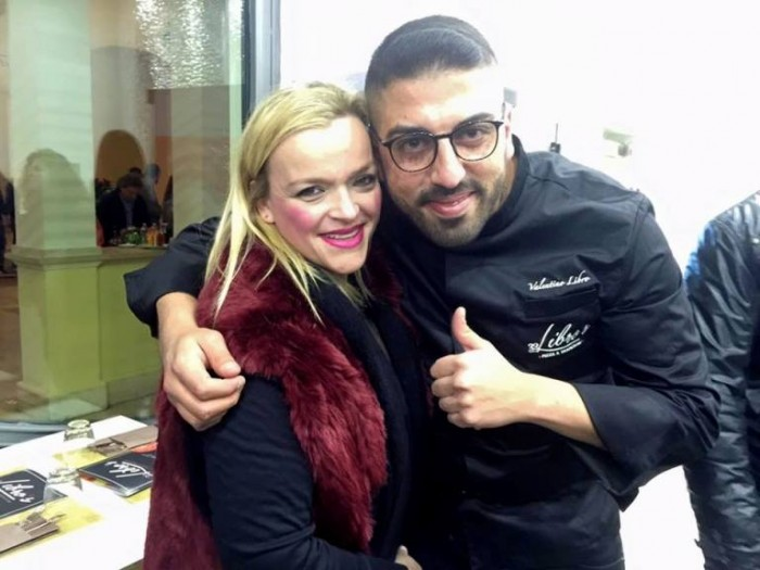 Pizzeria Libro's. Valentino con Teresa Iorio