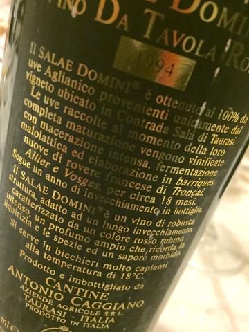 Salae Domini1994, la retroetichetta