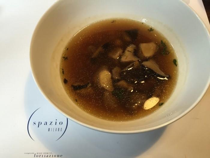 Spazio di Niko Romito, zuppa di ceci e funghi