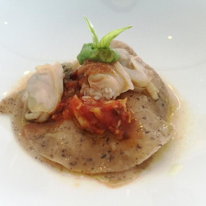 Torre del Saracino, lasagnetta di grano saraceno, maruzzielli, broccoli calabresi