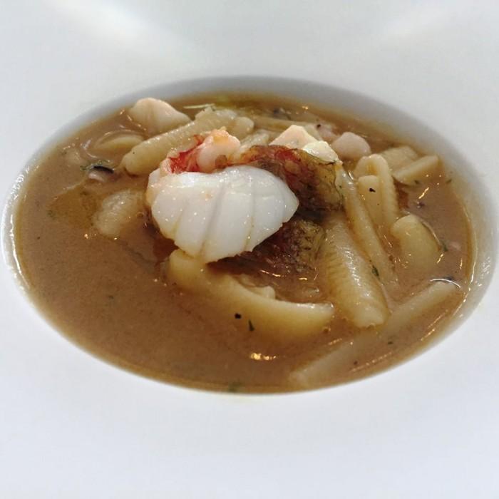 Torre del Saracino, minestra di pasta mista con pesce di scoglio