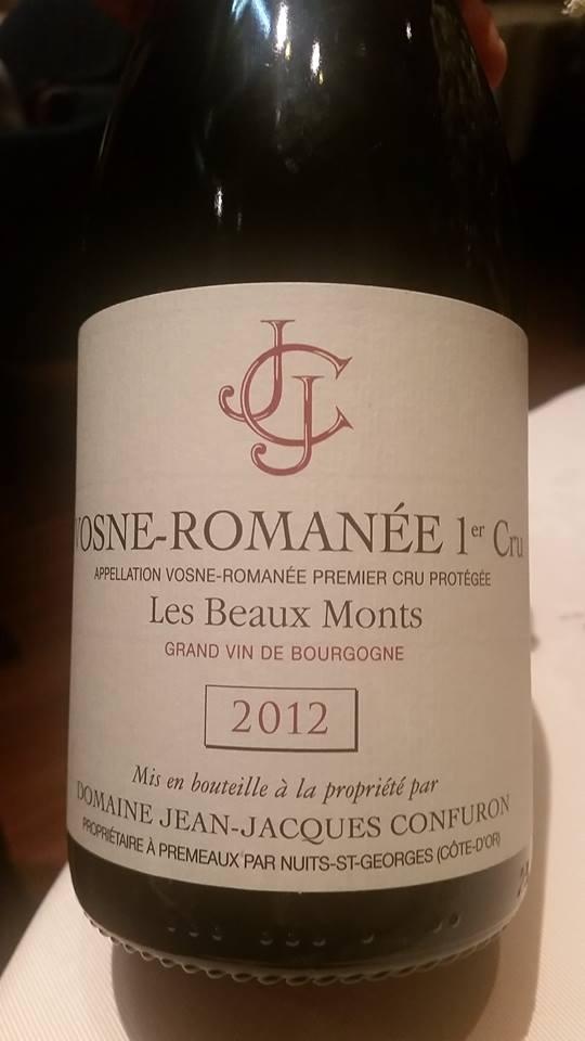 """Vosne Romanée 1°er Cru Appellation Vosne Romanée Premier Cru Protégée """"Lex Beaux Monts"""" Gran Vin de Bourgogne - Domaine Jean Jacques Confuron,"""