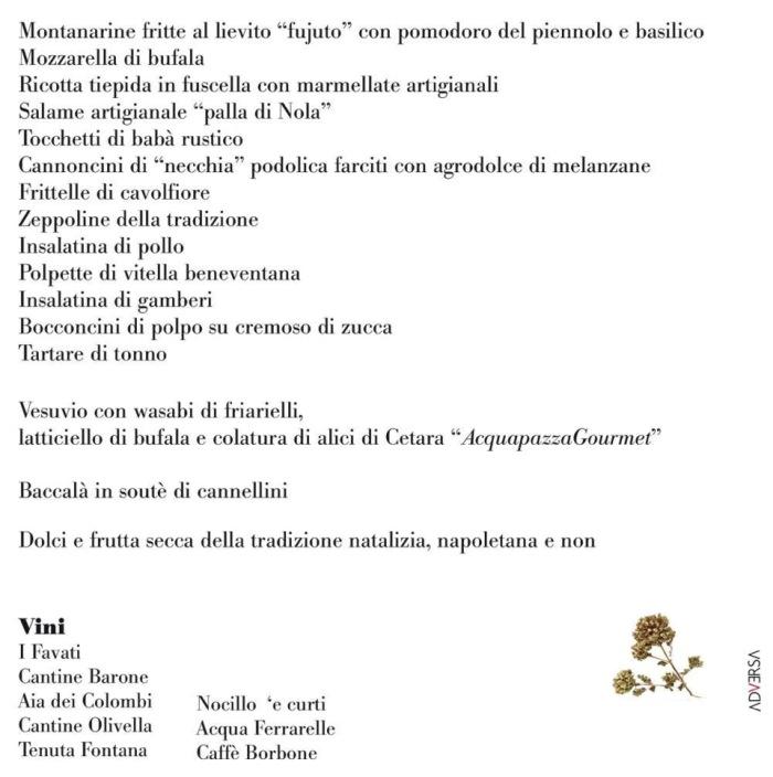 il menu di Pietro Parisi per la cena presidenziale al San Carlo