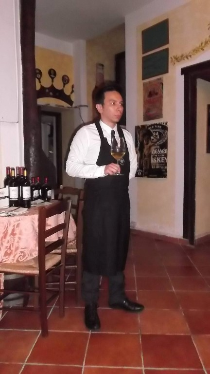 il sommelier Oreste Angelico