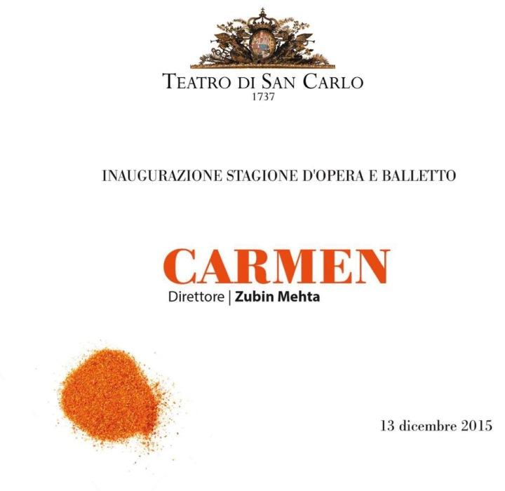 la Prima della Carmen al San Carlo