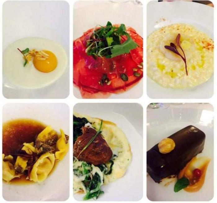la cena di fine anno della Sezione Campania dell'Associazione Enologi Enotecnici Italiani, i piatti