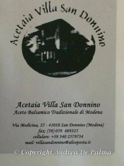 Acetaia Villa Donnino