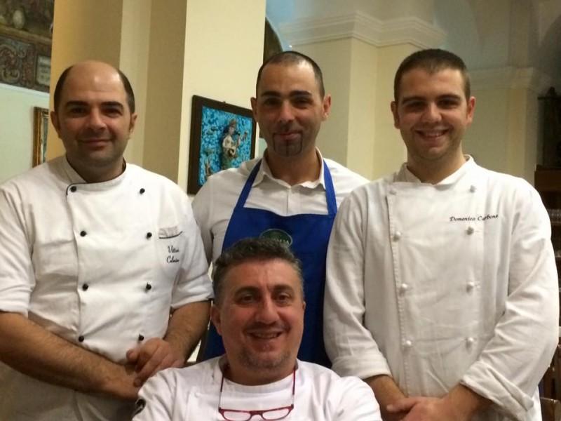 Al Convento, Pasquale Torrente con Vittorio e Domenico (cucina) e Gaetano (sala)