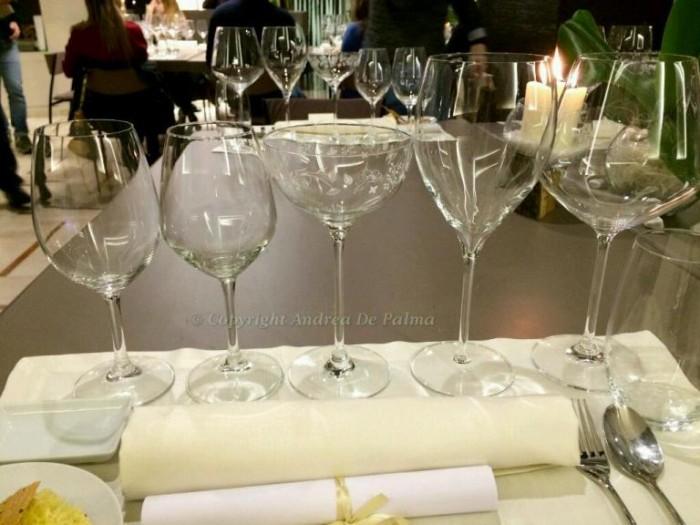 Amicizia in Cucina, i bicchieri per i vini