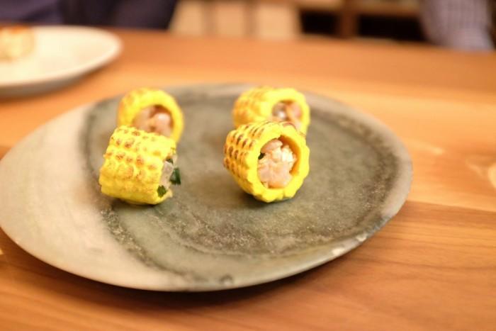 Bottura, ceviche in pannocchia tostata