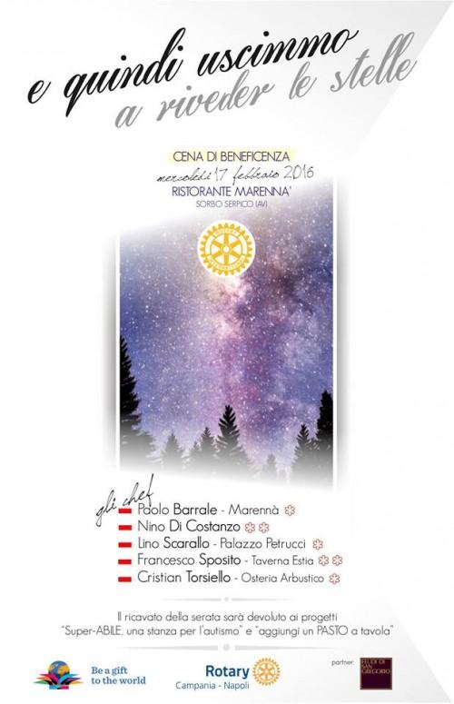 Cena di beneficenza Rotary Campania da Marennà