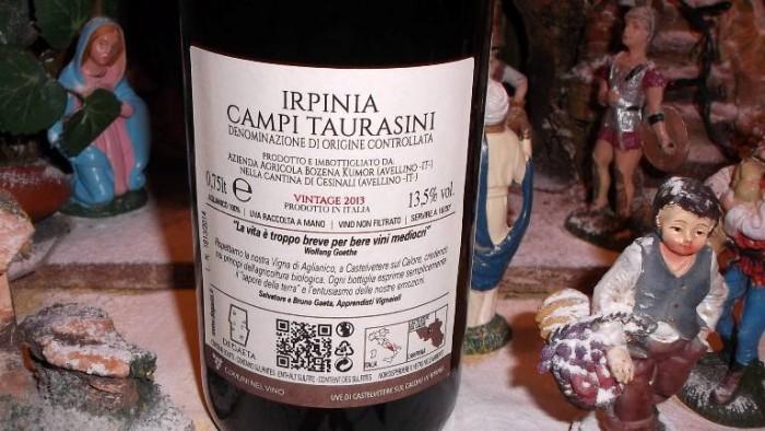 Controetichetta Irpinia Campi Taurasini Dop 2013 De Gaeta