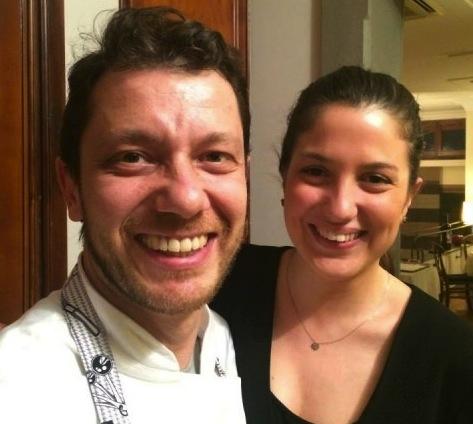 Giulio Terrinoni con la compagna Flaminia