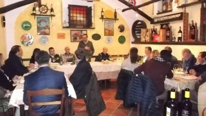 Le Macine, Alfonso Rotolo e il pubblico presente