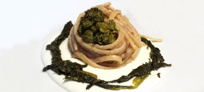 Linguine nocciola, bufala e broccolo