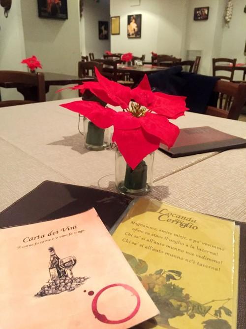 Locanda del Cerriglio, i menu