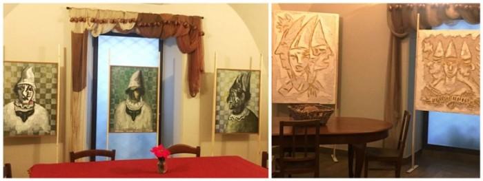 Locanda del Cerriglio, il piano superiore con i pulcinella di Elio Mazzella