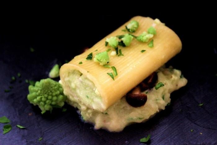 Millerighe dei Campi ripiene con Cavolo Romano, Ricotta e Mozzarella di Bufala Campana Dop