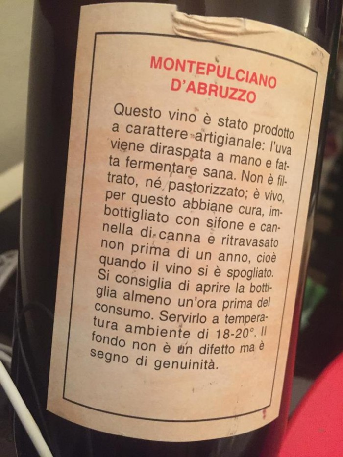 Montepulciano d'Abruzzo 1983