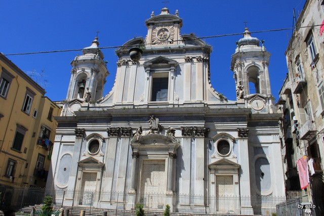 Napoli Via dei Tribunali La Chiesa dei Gerolamini