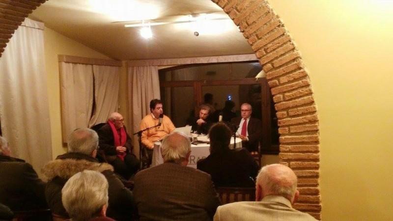 La presentazione con Antonio Caggiano, Annibale Discepolo, Nicola Di Iorio