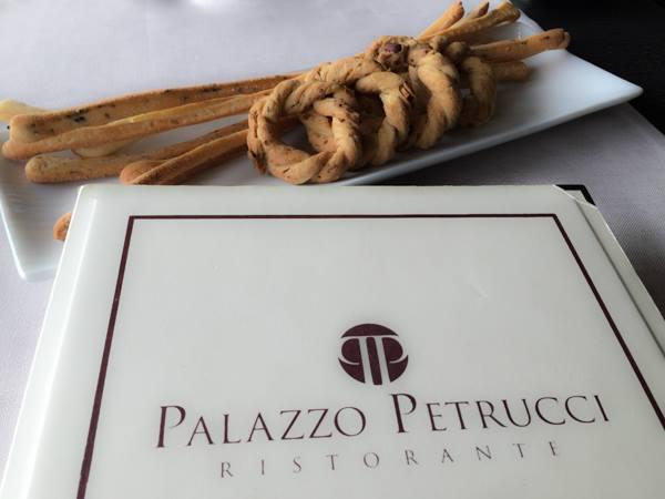 Palazzo Petrucci, il menù