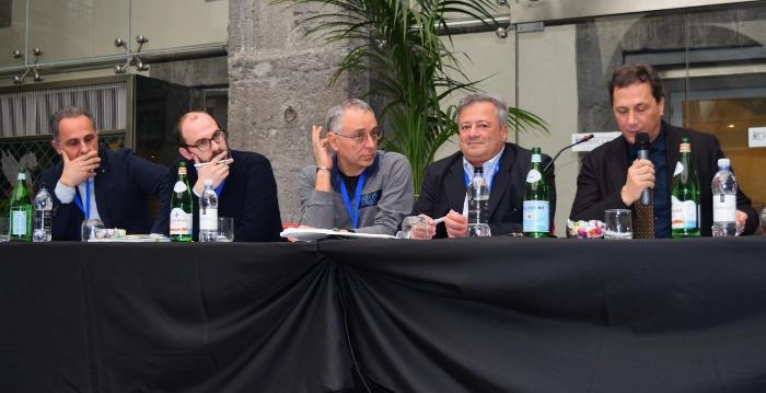 Pizza Formamentis a Palazzo Caracciolo, Enzo Coccia con Marco Lungo e Maurizio Cortese