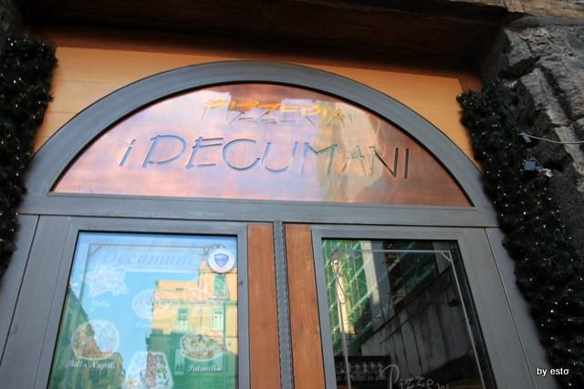 Pizzeria I Decumani. L'ingresso