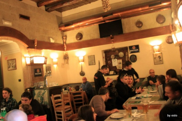 Pizzeria I Decumani. L'interno