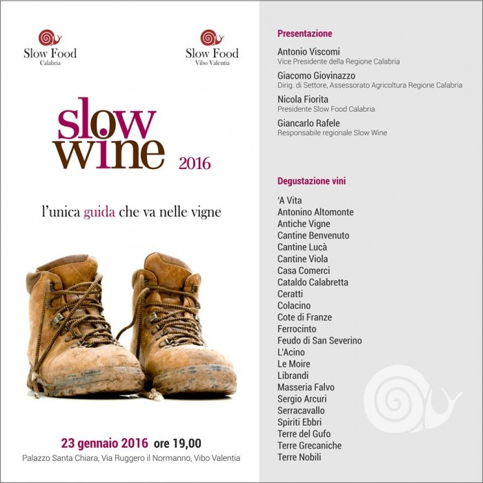 Slow wine Calabria