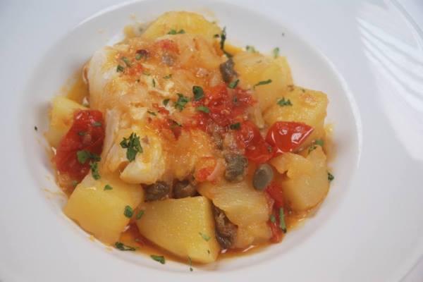 Stoccafisso con patate in cassuola