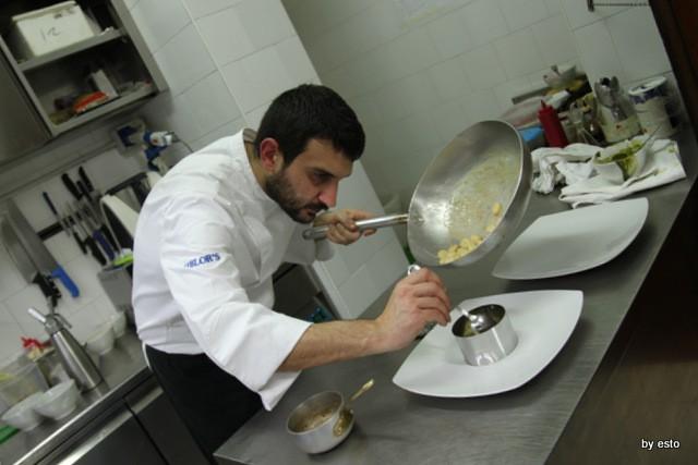 Taberna del Principe. Giovanni Arvonio Gnudi di ricotta di bufala, passato di torzella, animelle e limone