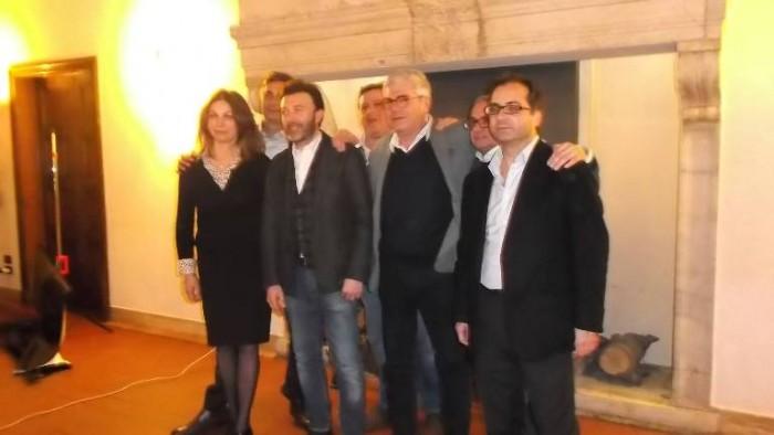 Vincenzo Mercurio all'Hotel Columbus con i produttori dei Comuni nel Vino