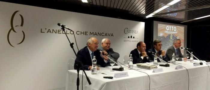 il convegno di presentazione dell'Ottavianello di Carvinea, il tavolo dei relatori